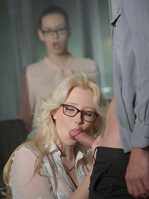 Mr. Calhoun should count himself lucky to have an assistant like Samantha Rone around to help. When she noticed he was having trouble with the fit of